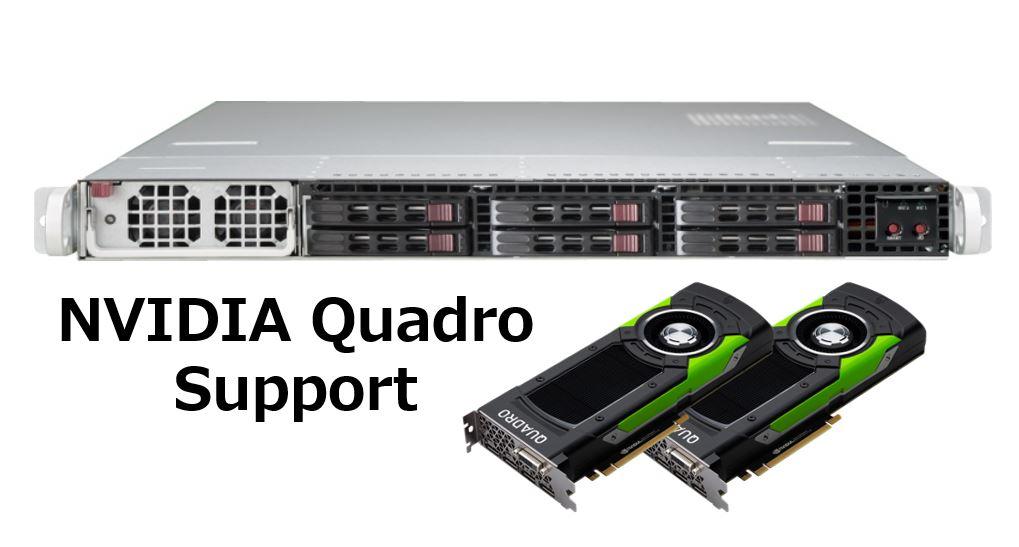 【1U / Quadro 2基搭載モデル】SolutionServer 3016P1U4-A16WTAB-P6000X2