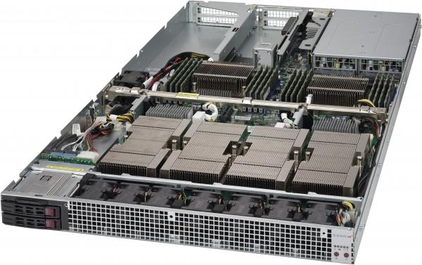 【1U / Tesla P100 NVLink対応GPU (Pascal) 4基搭載】SolutionHPC 30222P64-A12WTA4RB