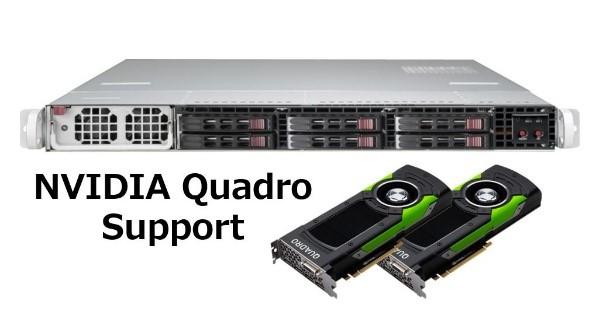 【1U / Quadro 2基搭載モデル】SolutionServer 3016P6USL-SD16WTA-P6000X2