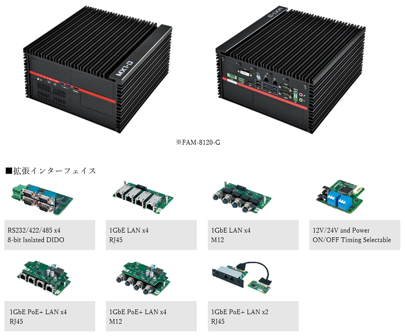 図:GPUコンピューティング対応小型ボックスPC FAM-8120-G