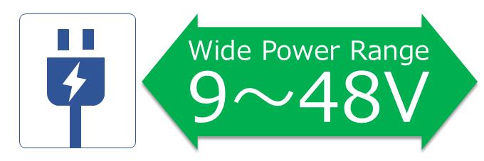 9~48Vのワイドレンジ電源入力