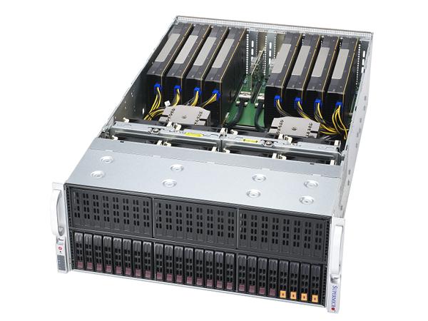 4U / NVIDIA A100 PCI-E GPU 8基搭載モデル
