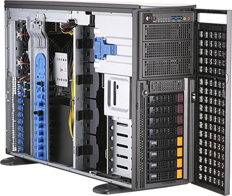 WST8200-IL4 【4Uタワー / Intel Xeon CPU / GPU 最大4基搭載ワークステーションモデル】